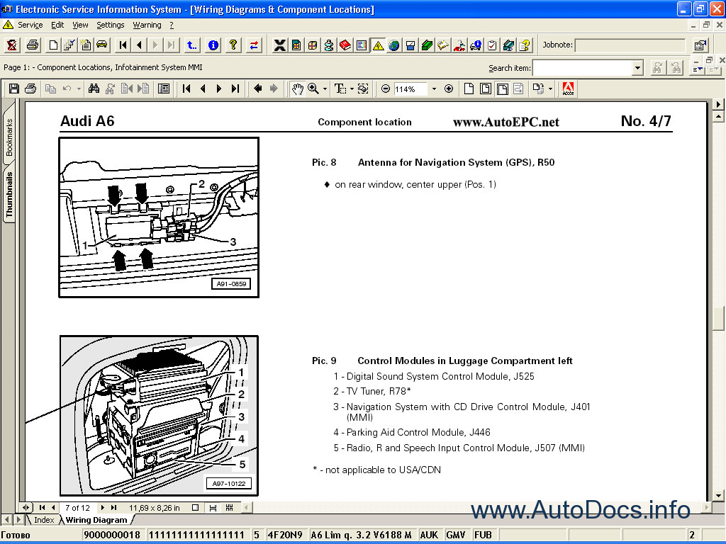 Audi Volkswagen Elsa 39 Repair Manual Order Download A6 Mmi Wiring Diagram Manuals 15