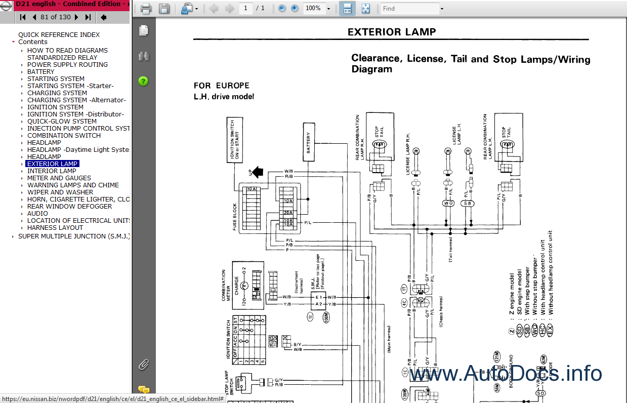 100 nissan hardbody wiring diagram