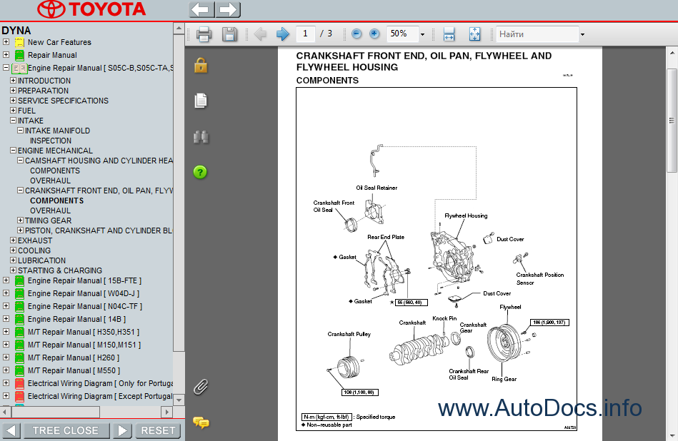 Toyota dyna  service manual repair order