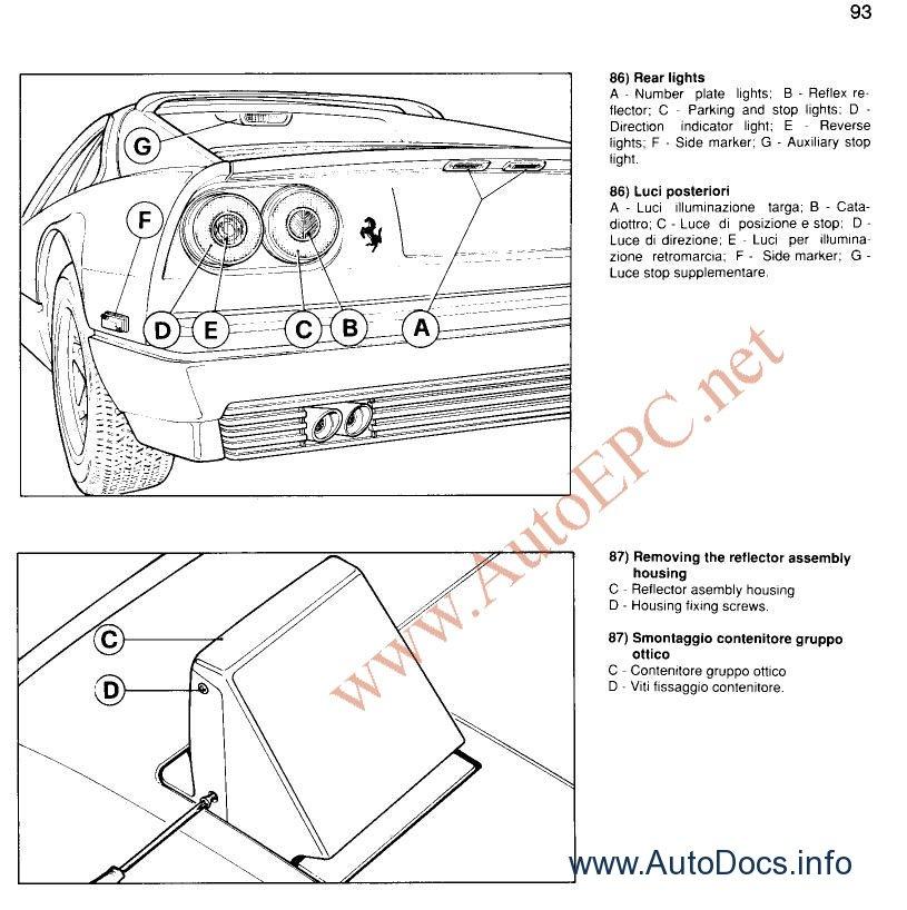 Ferrari Repair Manuals: Ferrari 365 GTB/4 / GT4 2+2 1969-1973 Repair Manual Order