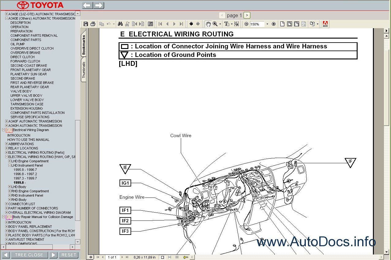 Toyota Hiace Wiring Diagram Free Download : Toyota hiace  service manual repair order