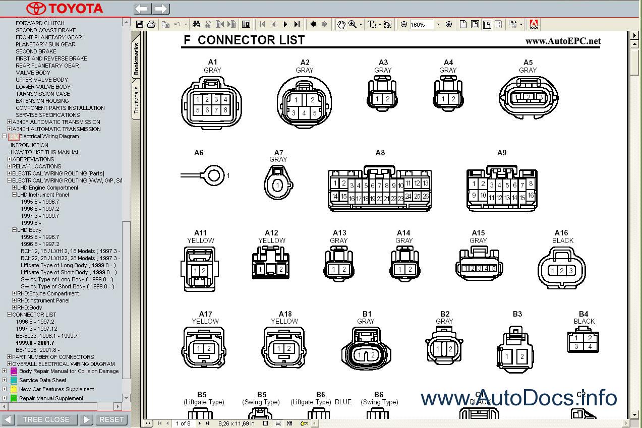 Toyota Hiace Wiring Diagram : Toyota hiace s b v  service manual repair