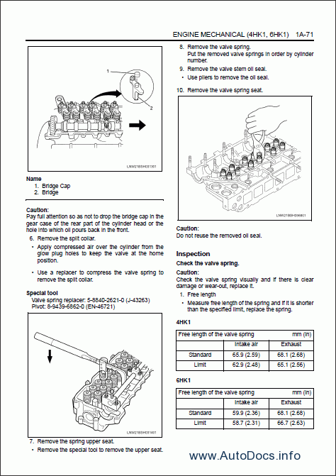 hitachi 4hk1  6hk1  isuzu  engine service manual repair manual order  u0026 download