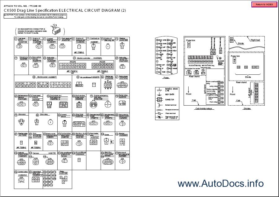 Hitachi Service Manual  Wiring Diagram  Circuit Diagram  U0026 Harness For Hitachi Crawler Cranes Cx