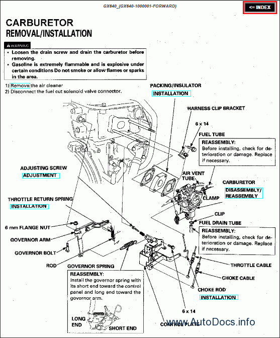 honda engines repair manual order