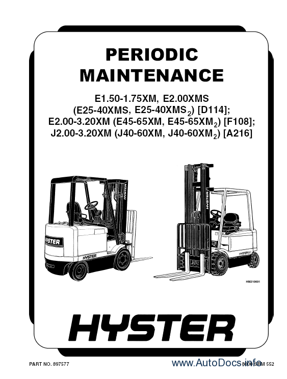 ... manuals Hyster Class 1 Electric Motor Rider Trucks Repair Manuals - 7