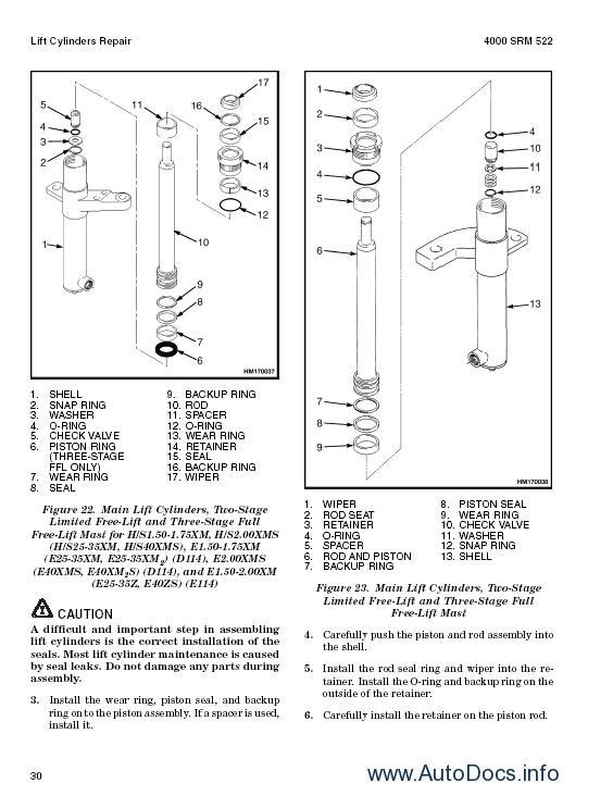 ... manuals Hyster Class 1 Electric Motor Rider Trucks Repair Manuals - 8