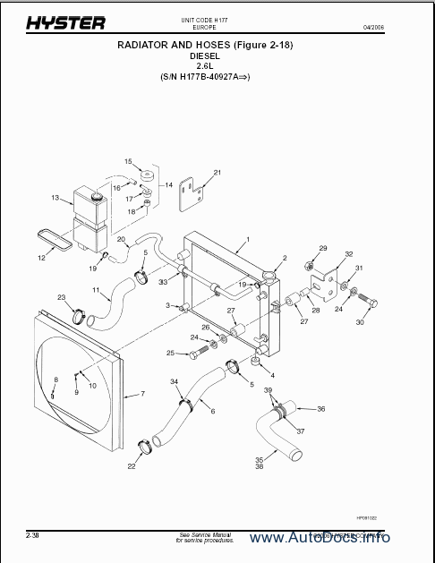 Hyster Forklift electronic spare parts catalogue, parts