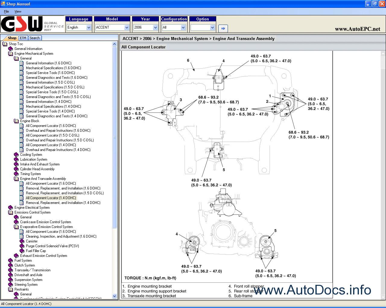 Repair Manuals Hyundai Accent  Hyundai Verna 2007
