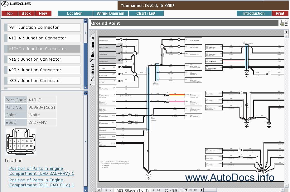 lexus is 220d wiring diagram lexus is300  lexus is250  is220d repair manual order   download  lexus is300  lexus is250  is220d repair