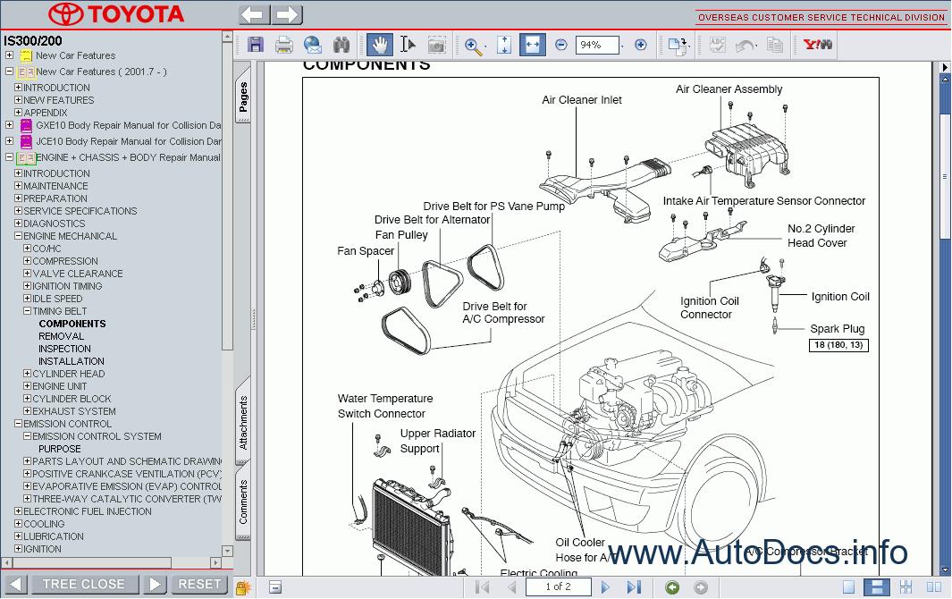 Lexus IS 300 IS 200 repair manual Order amp Download