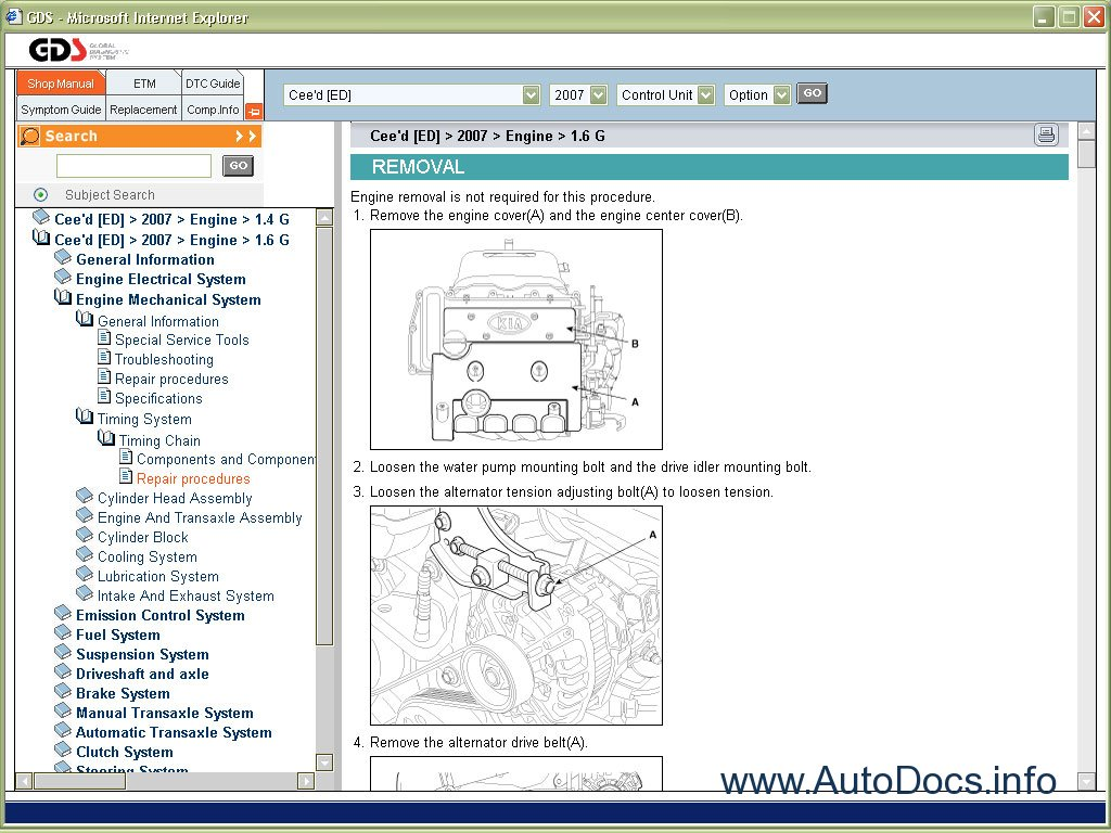 kia repair manuals 2005 2007 repair manual order   download Kia Optima kia clarus 2000 service manual