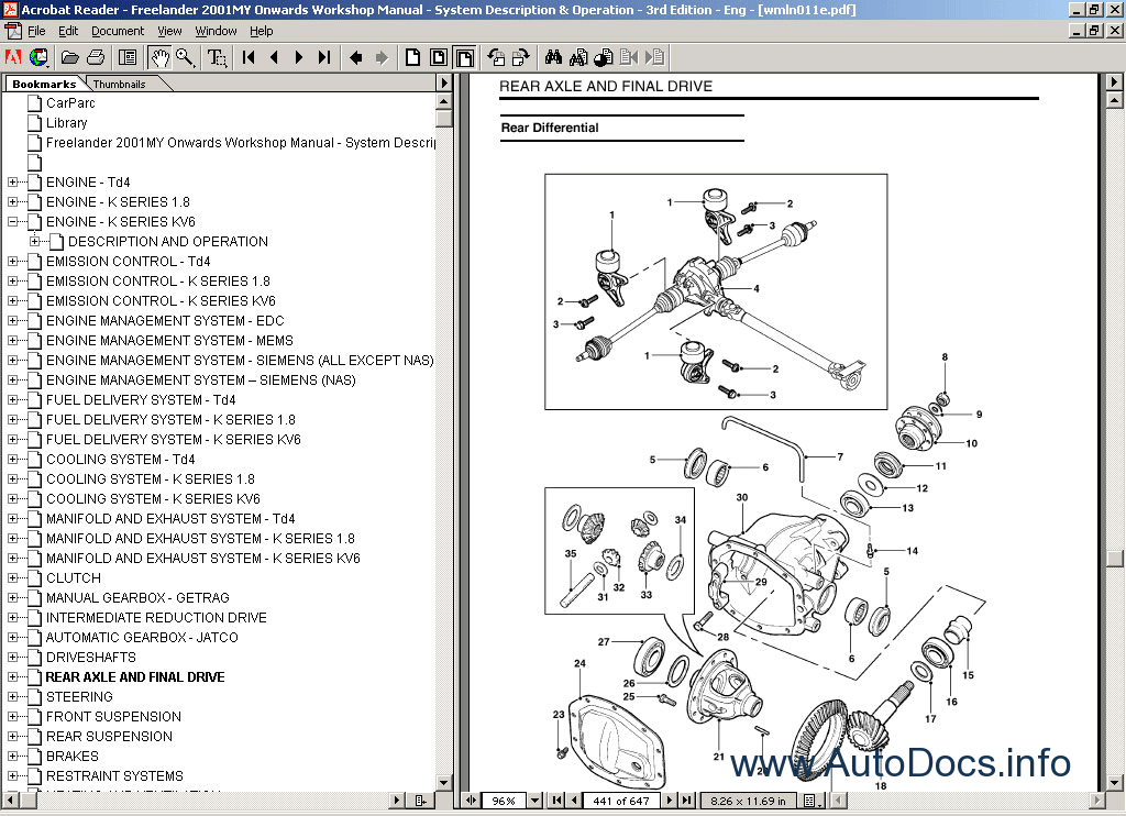 Land Rover Technical Data repair manual Order & Download
