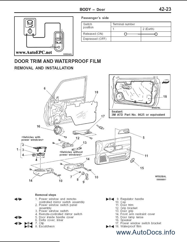 mitsubishi pajero pinin repair manual order  u0026 download