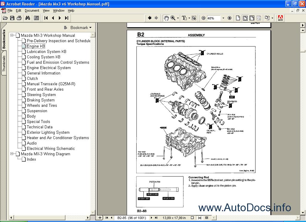 mazda mx3 repair manual repair manual order download. Black Bedroom Furniture Sets. Home Design Ideas