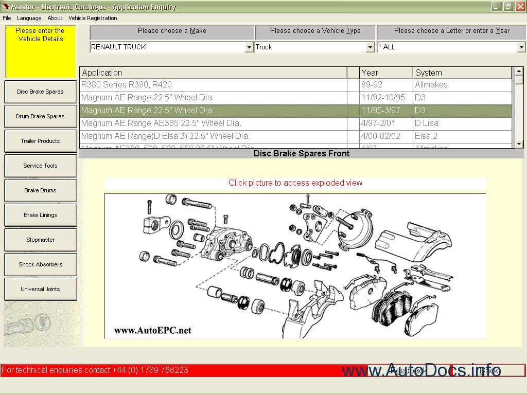 Meritor Axle Parts Catalog : Ror meritor parts catalog repair manual order download