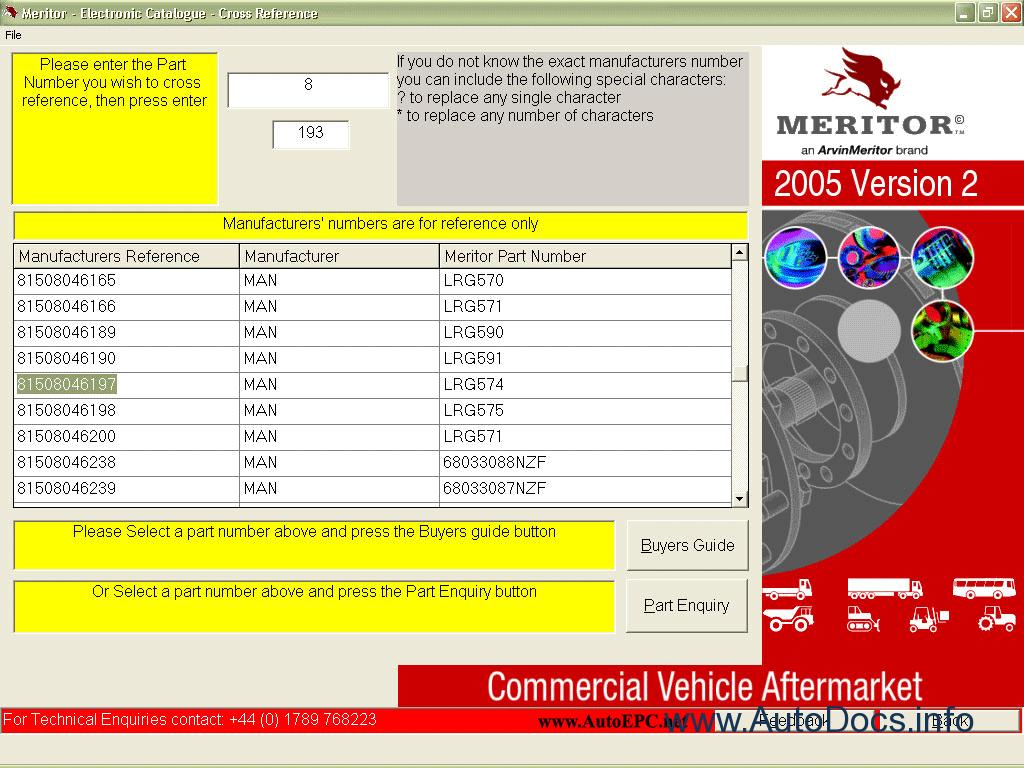 ROR Meritor parts catalog repair manual Order & Download