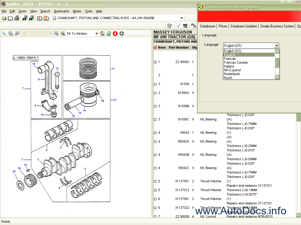 Massey Ferguson parts catalog Order & Download