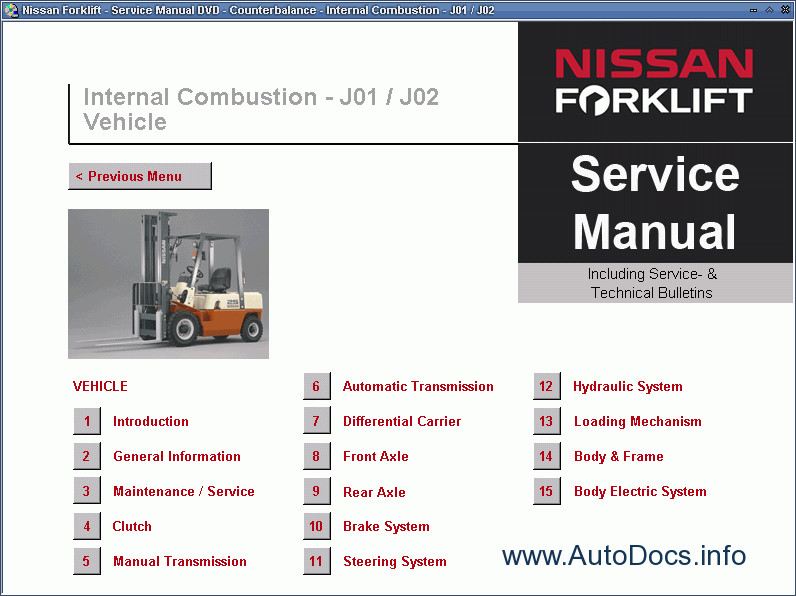 Nissan Forklift Service Manual Repair Manual Order Amp Download