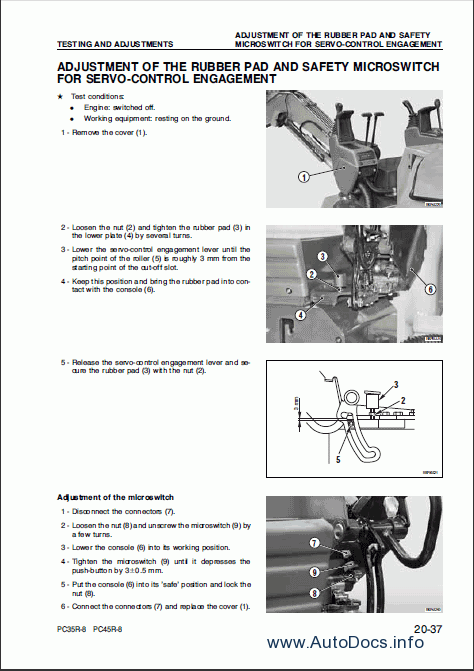 komatsu hydraulic excavator pc35r 8 pc45r 8 repair manual. Black Bedroom Furniture Sets. Home Design Ideas