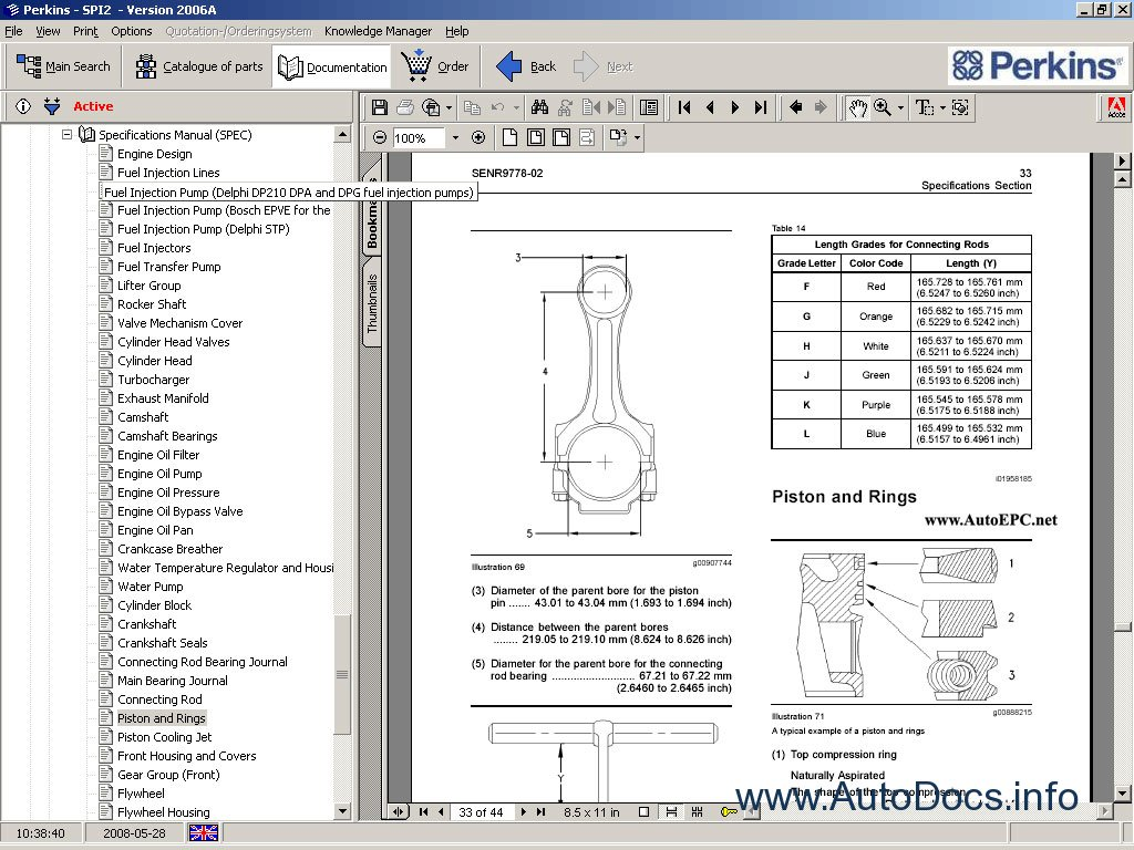 perkins 1000 series engine parts diagrams