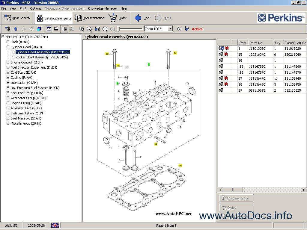 perkins spi2 2007 parts catalog repair manual order  u0026 download