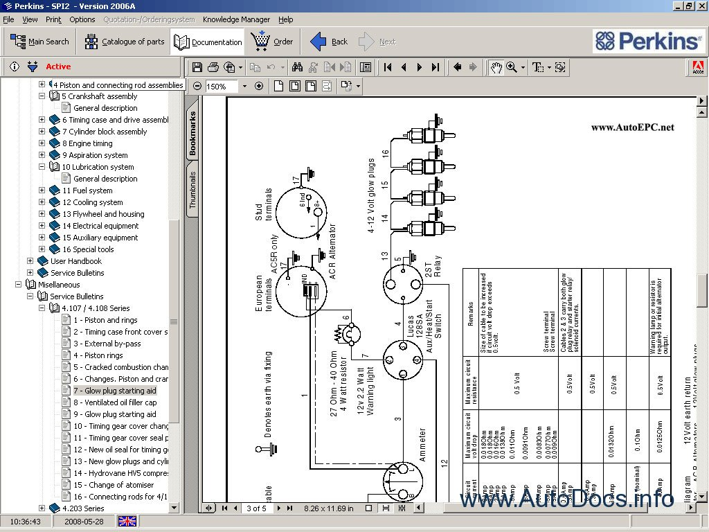 perkins spi2 2008 parts catalog repair manual order