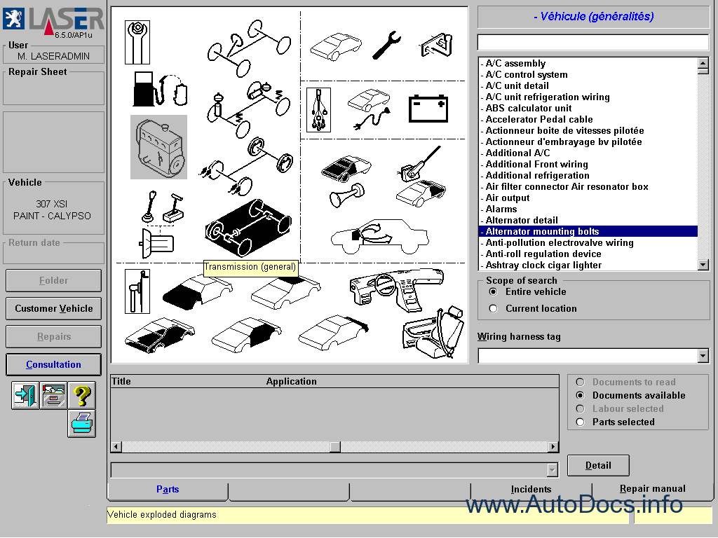 Peugeot Parts And Repair 2006 Parts Catalog Repair Manual