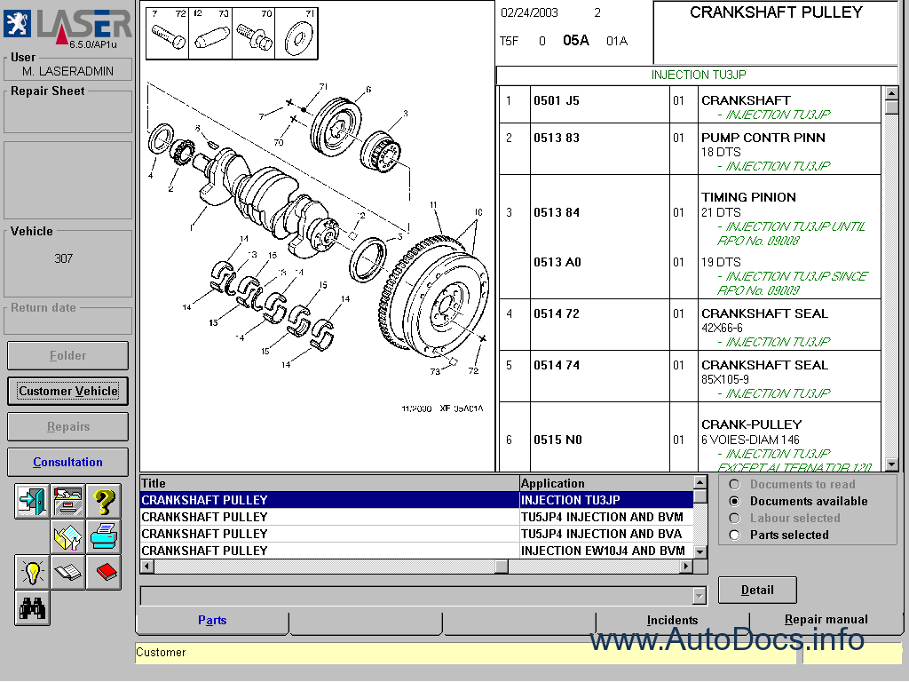 Peugeot Parts And Repair 2006 Parts Catalog Repair Manual