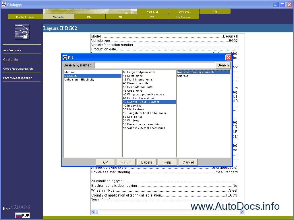 Renault Dialogys Eng Parts Catalog Repair Manual Order border=