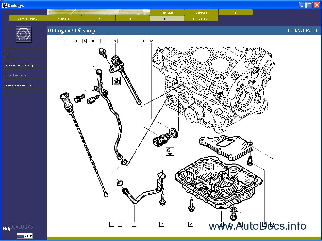Renault Dialogys Parts And Service Manuals Parts Catalog