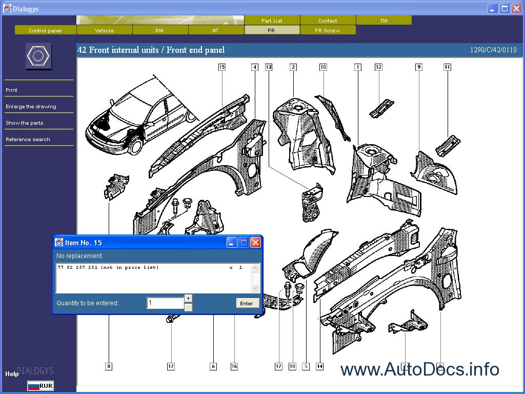 Spare parts catalogue and repair manuals Renault Dialogys ENG - 5