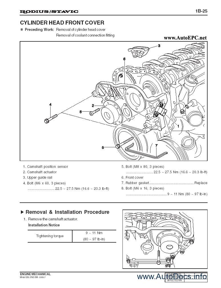 ssang yong rodius  stavic repair manual order  u0026 download