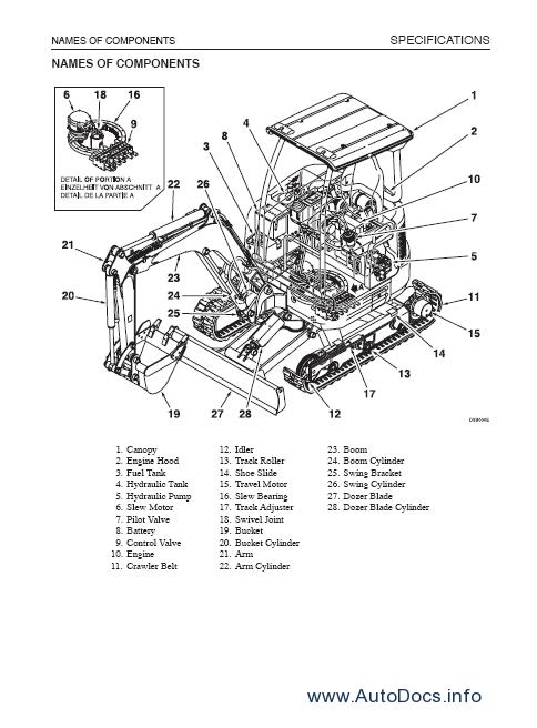 takeuchi tb007 repair manual order