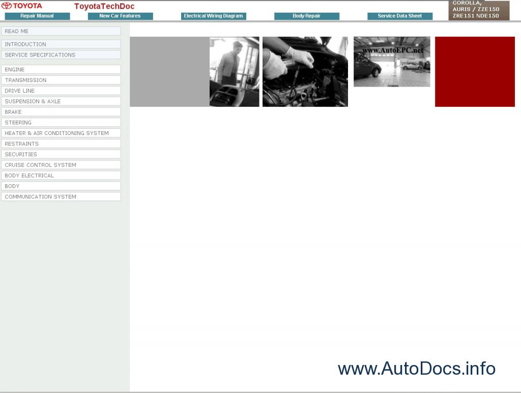 Toyota Corolla Auris Repair Manual Order Download 2007 Engine Diagram Manuals