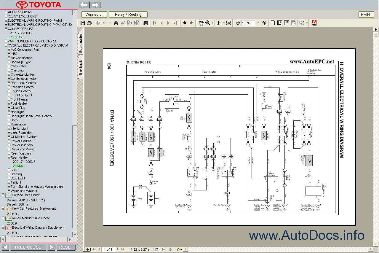toyota dyna 100  150 service manual repair manual order