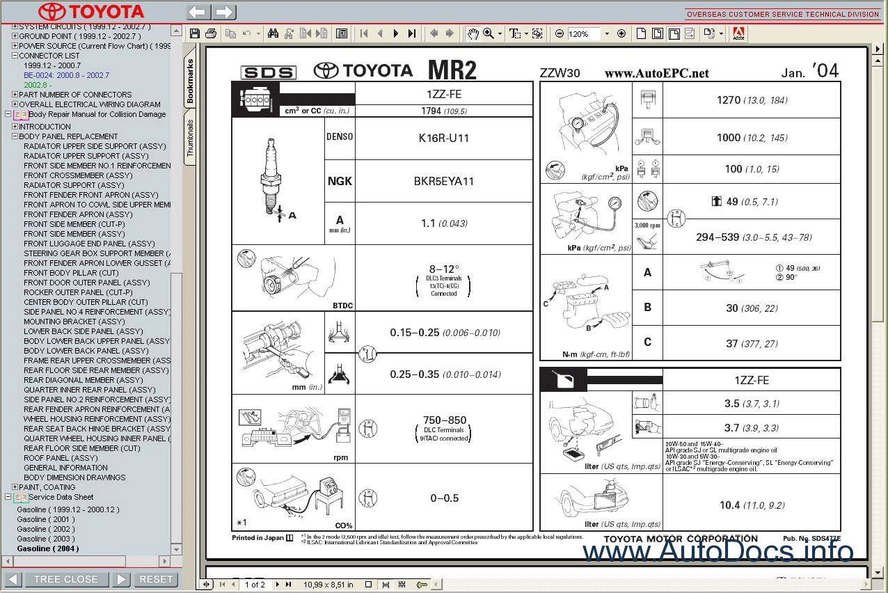 service manual  2005 toyota mr2 owners repair manual