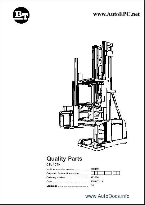 toyota lift truck spare parts catalogue  parts manuals