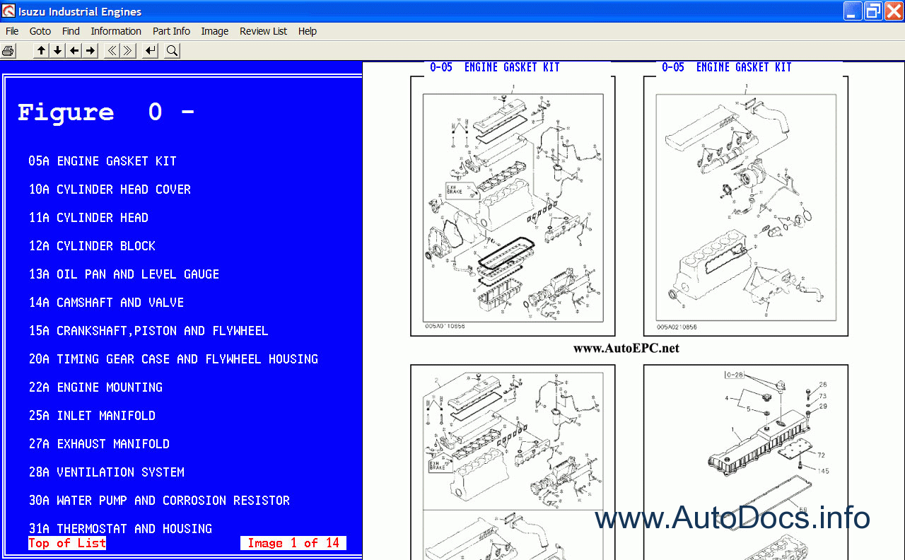 Isuzu 3cb1 Engine Wiring Diagram Free Download Diagrams Industrial Engines 2005 Parts Catalog Order On Truck For Spare