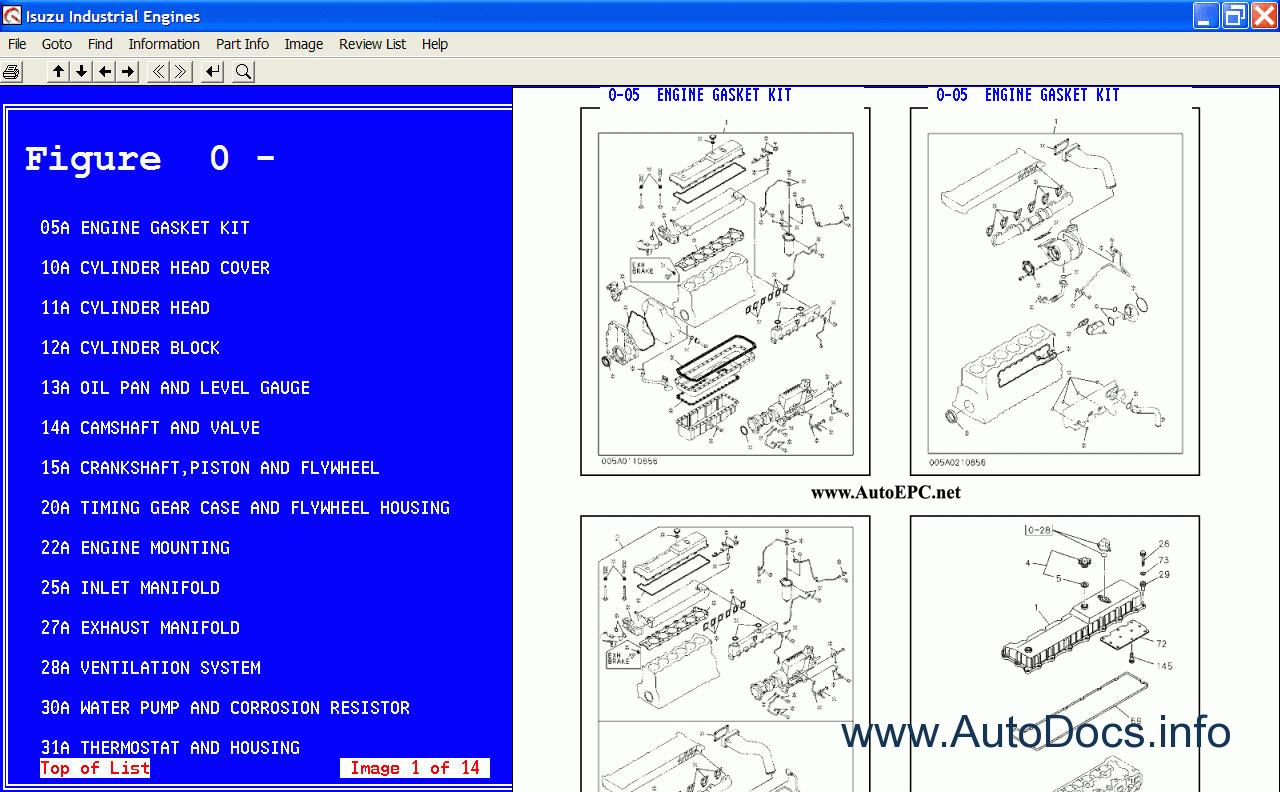 Isuzu Industrial Engines 2005 Parts Catalog Order Download 3lb1 Engine Diagram Spare Catalogue 3