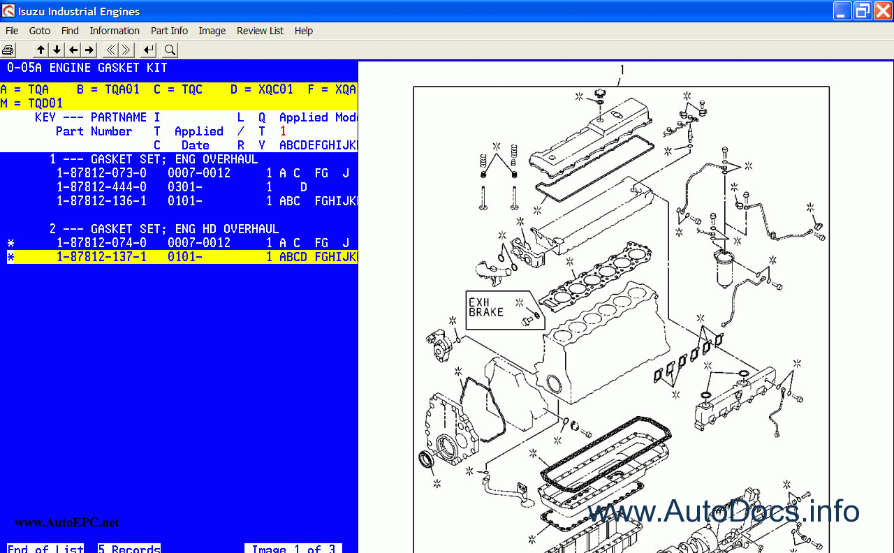 Isuzu 3cb1 Engine Wiring Diagram Free Download Diagrams 2000 Npr Ac Industrial Engines 2005 Parts Catalog Order Spare Catalogue 4 At
