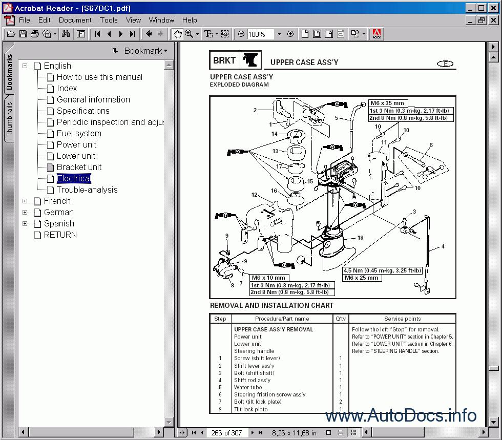 Yamaha outboard motors repair manual 2001 repair manual for Boat motor repair manuals