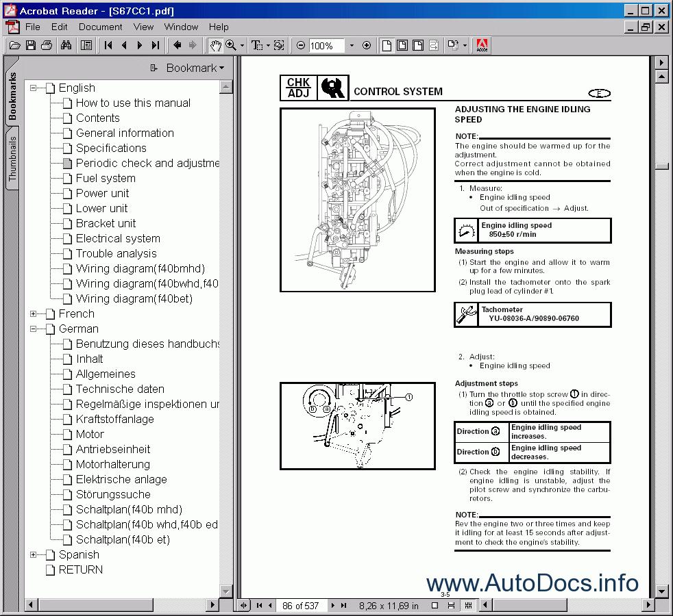Yamaha Outboard Motors Repair Manual 2001 repair manual Order & Download