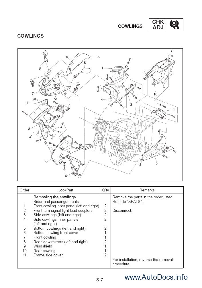 Yamaha Yzf R6 2008 Repair Manual Repair Manual Order