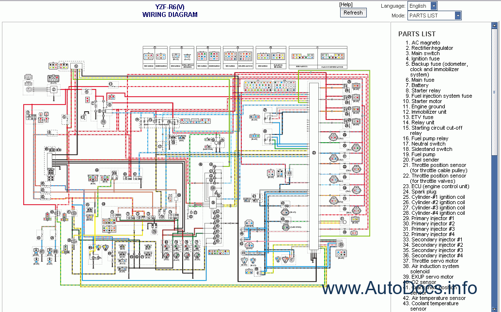 2005 yamaha r1 wiring diagram 2002 yamaha r1 wiring Wire Harness Test Wire Harness Design