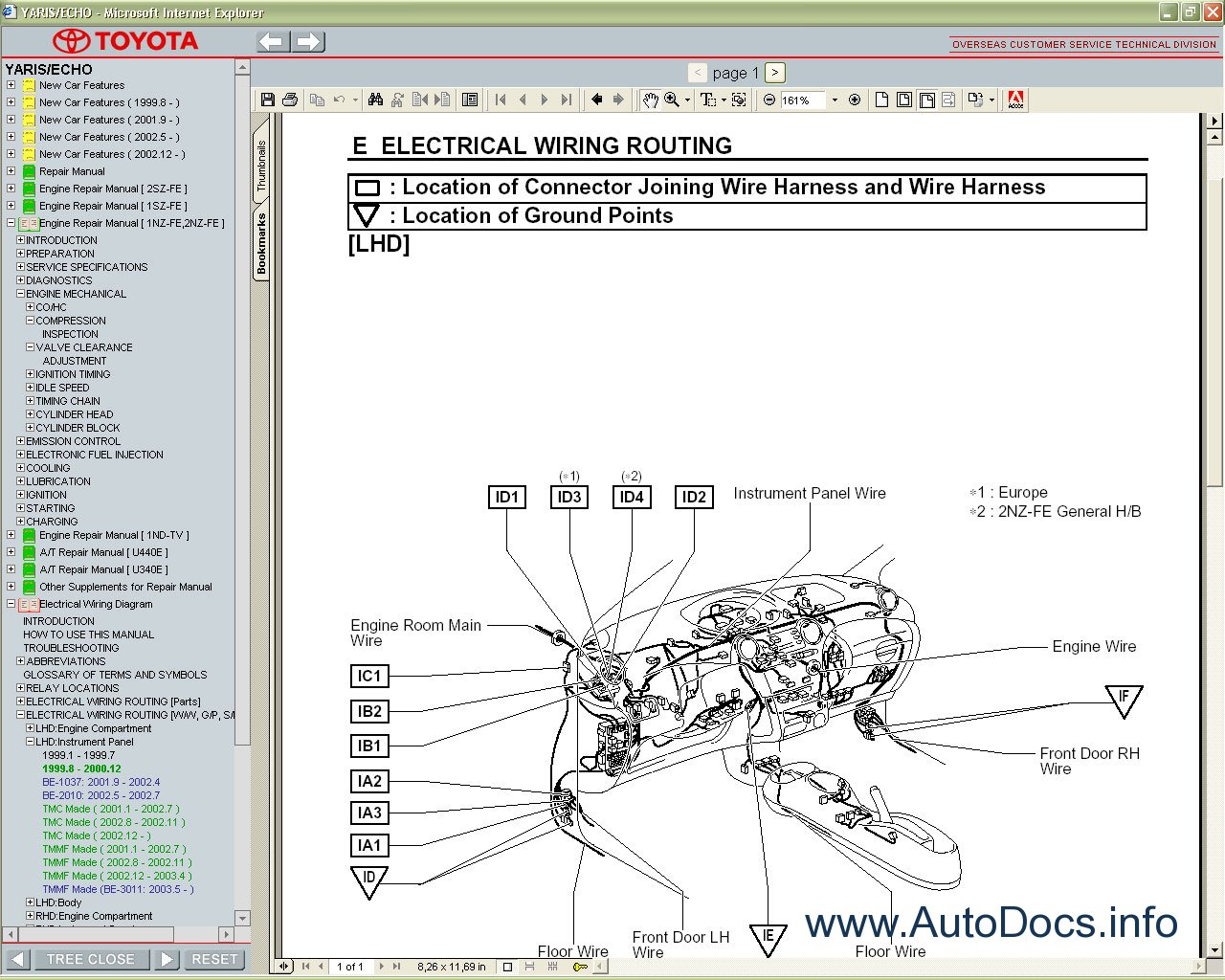 1994 toyota corolla electrical wiring diagrams