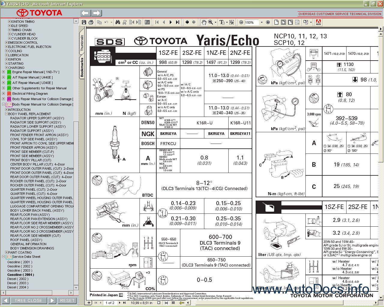 toyota yaris   echo 1999 2005 service manual repair manual  electric fan wiring diagram for car