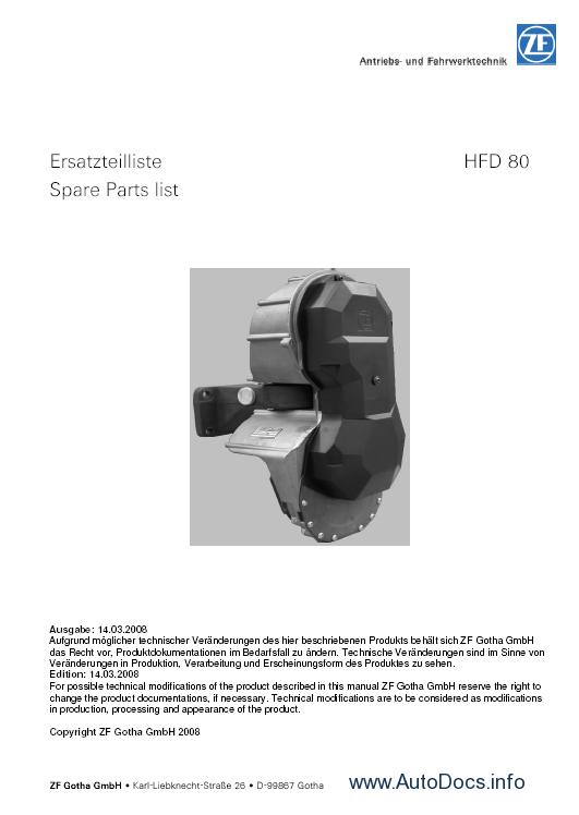 ZF Gotha Transmissions parts catalog Order & Download
