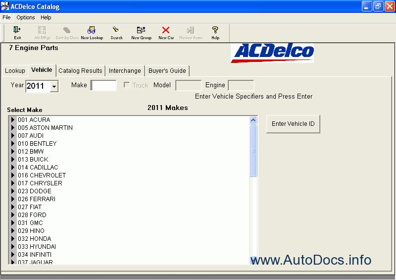 Acdelco Parts Catalog Epc Parts Catalog Order  U0026 Download