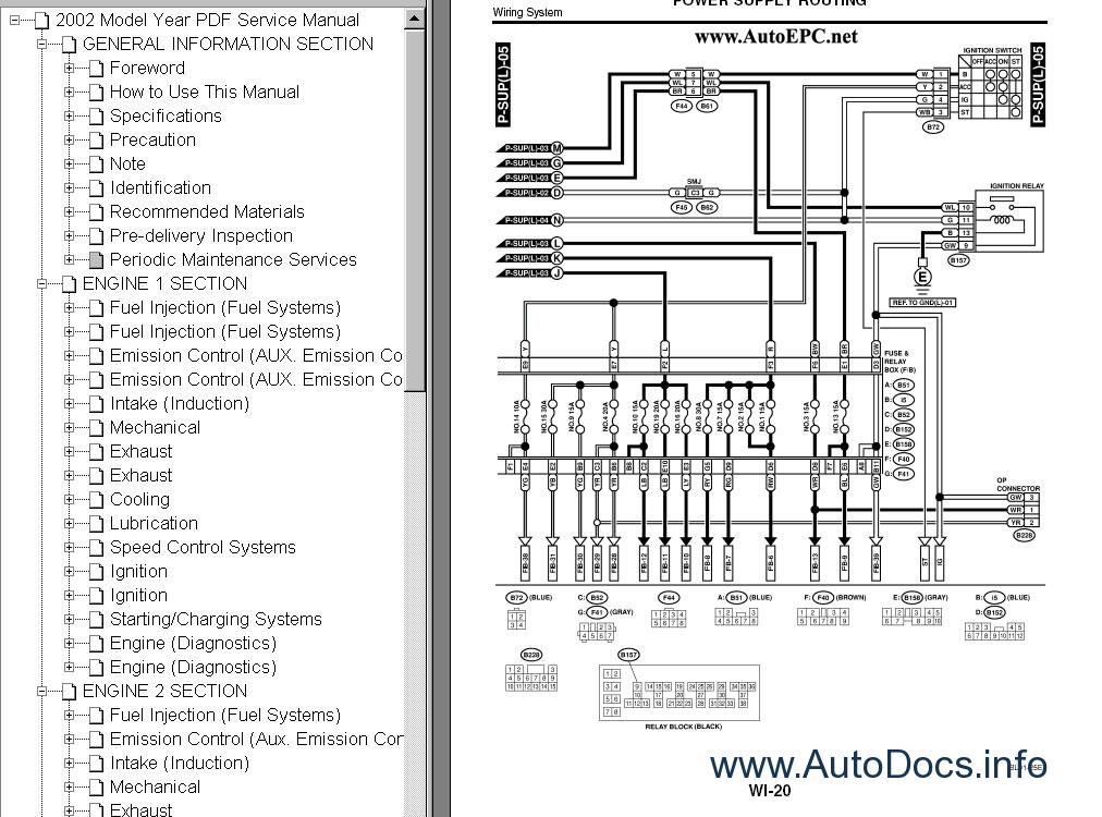 subaru legacy repair manual pdf